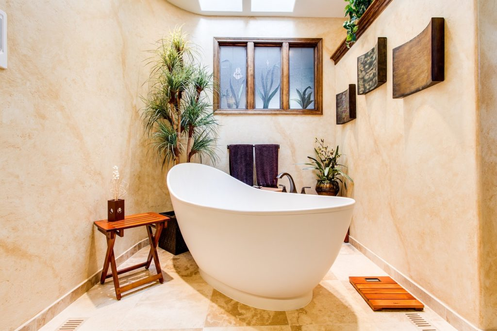 home spa - bathroom trends
