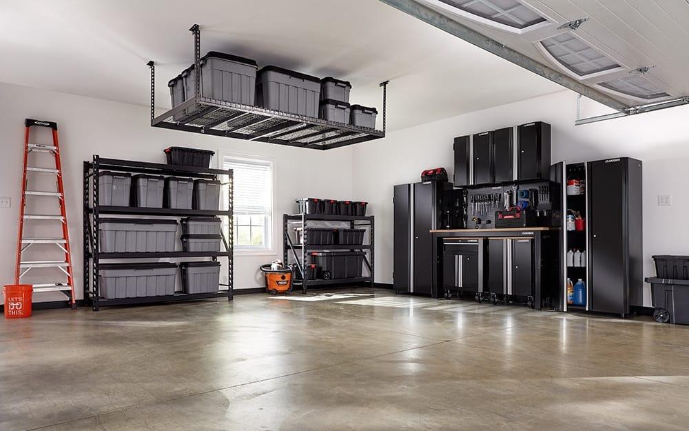 organized garage with window